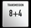 Cambio 12 marce (8AV + 4RM); PTO Standard 540 g/min e sincronizzata con tutte le velocità del cambio; innesto bloccaggio differenziale ant/post indipendenti; disinnesto trazione anteriore.