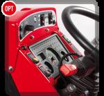 Controllo elettronico della velocità di avanzamento e dei giri. Memorizza e modula la velocità del trattore a discrezione dell'operatore.