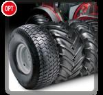 A disposizione diversi set di pneumatici adatti a tutti i tipi di terreno, per un'aderenza costante che esalti le prestazioni del trattore a prescindere dalle condizioni del suolo.